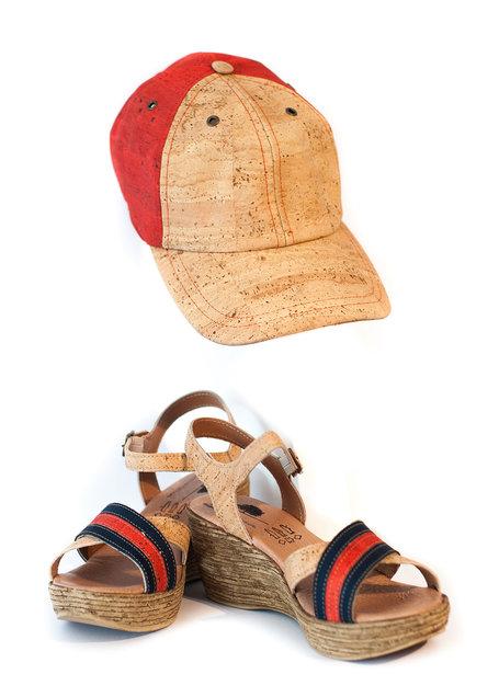 CORK SANDALS & CAP