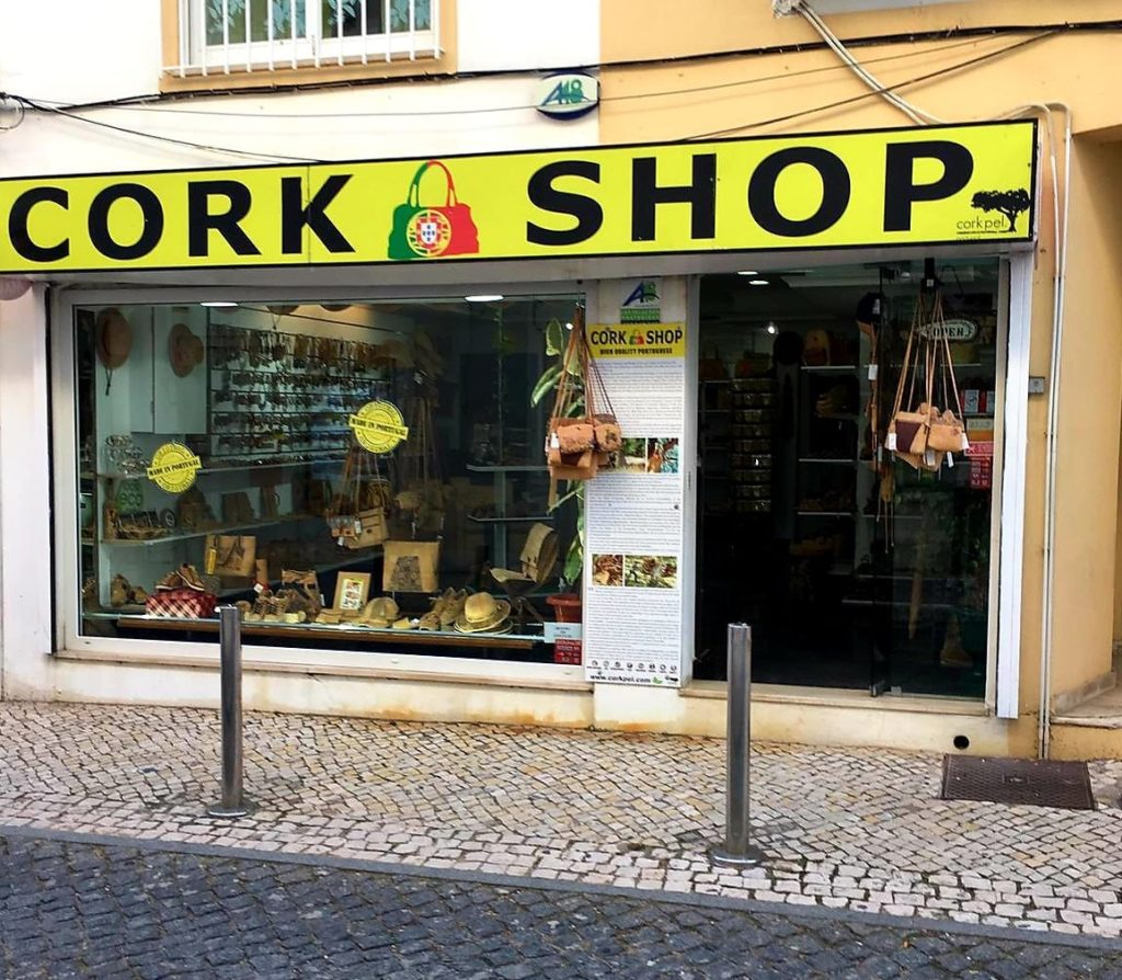 Cork Shop in Portugal Carvoeiro