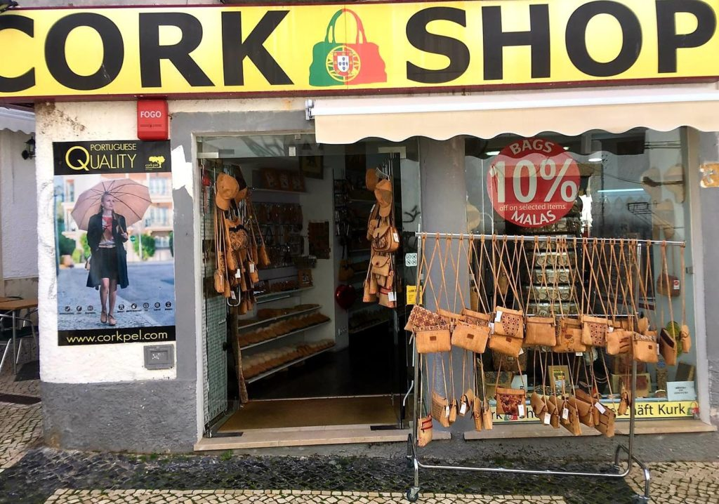 Cork Shop in Portugal Lagos Marquis de Pombal street