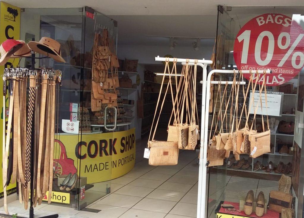 Cork Shop in Portugal Lagos Rua Candido dos Reis