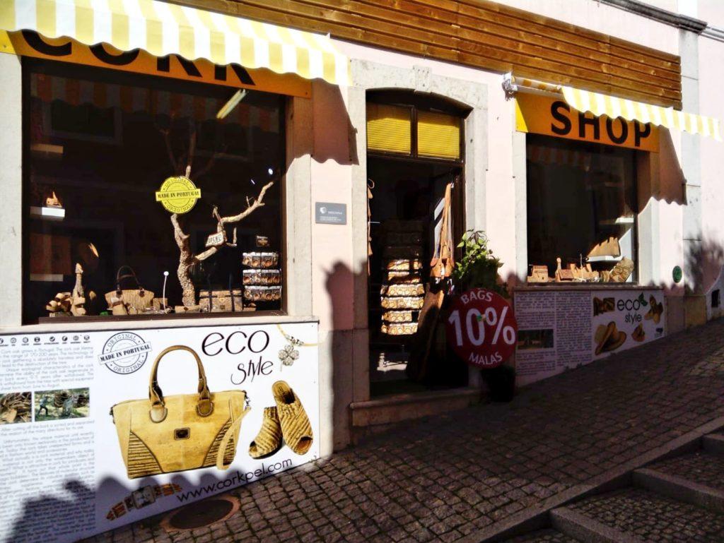 Cork Shop in Portugal Monchique