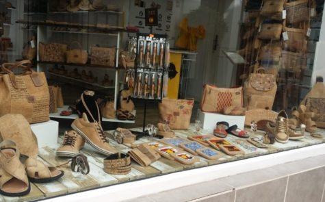 Cork Shop in Spain Malaga Nerja Painted street