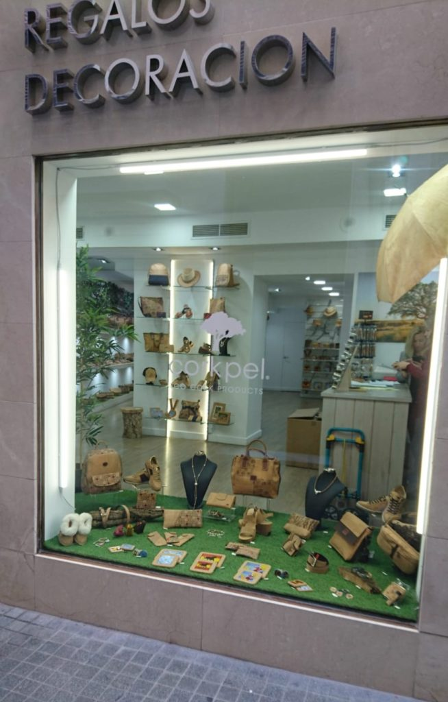 Cork  Shop in Spain Malaga San Juan street