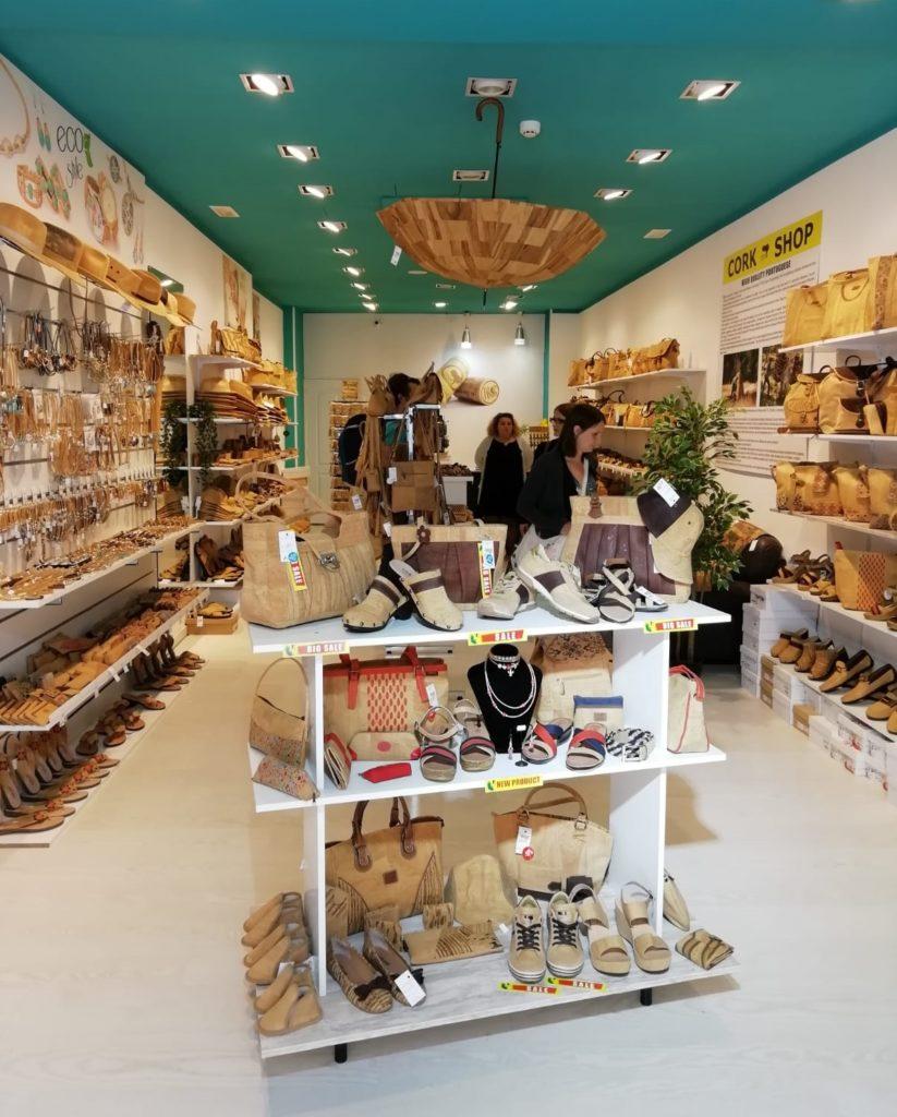 Cork Shop in Spain Balearic Island Mallorca Palma Street of the Union